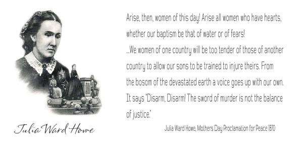 Julia Ward Howe Proclamation for Peace 1870