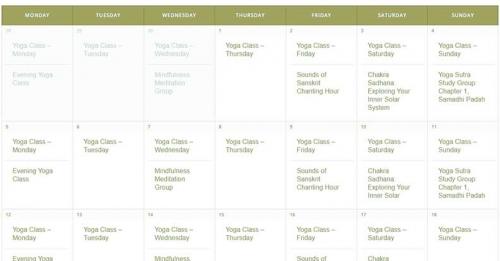 sol center class schedule
